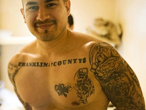 Jimmy McIntosh Shows His Tattoos In A New Unit At The