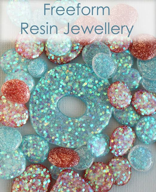 A new and exciting technique for making lots of little glittery resin jewellery elements without the need for moulds.