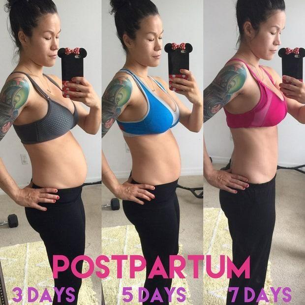 A blogger de Fitness Sia Cooper mostrou os seus abdominais apenas 6 dias depois de ser mãe