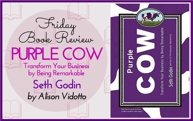 Rather than a text book of how to go about marketing, it is more of an observation Seth has made about people who stand out from the crowd. He uses the metaphor of a purple cow.  http://www.pushbusinesstraining.com/book-review-purple-cow-transform-your-business-by-being-remarkable-seth-godin/ #BookReview