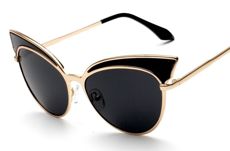 Barato 2016 nova Cat Eye óculos de sol de luxo óculos mulheres marca Designer…