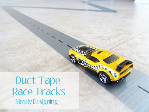 duct tape race tracks