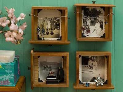 Cómo hacer estantes y estanterías con cajones viejos. - Manualidades Gratis