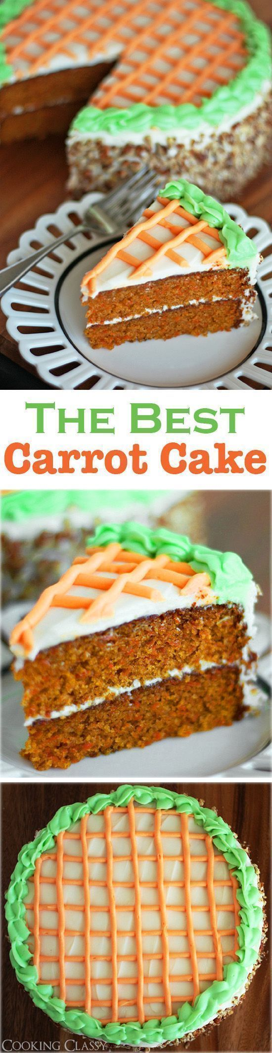 "Carrot Cake with Cream Cheese Frosting - ""this really is the BEST carrot cake I've ever had! It's one of my all time favorite cakes! I make it several times ever year."""