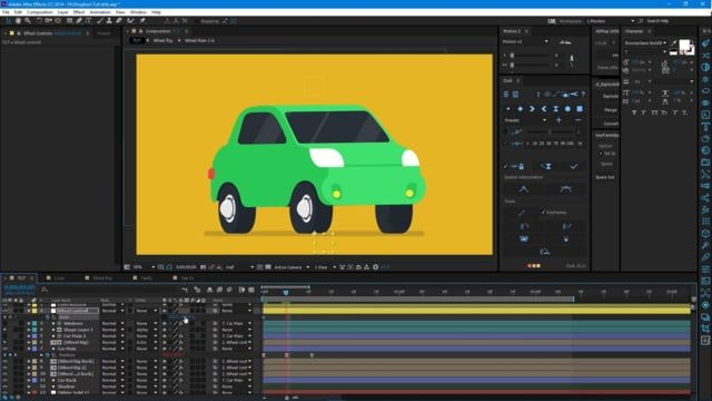 Car Rig Tutorial GD tips Car animation After effects After
