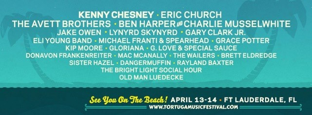 Brett Eldredge and Old Man Luedecke added to the Tortuga Music Festival 2013 Lineup!