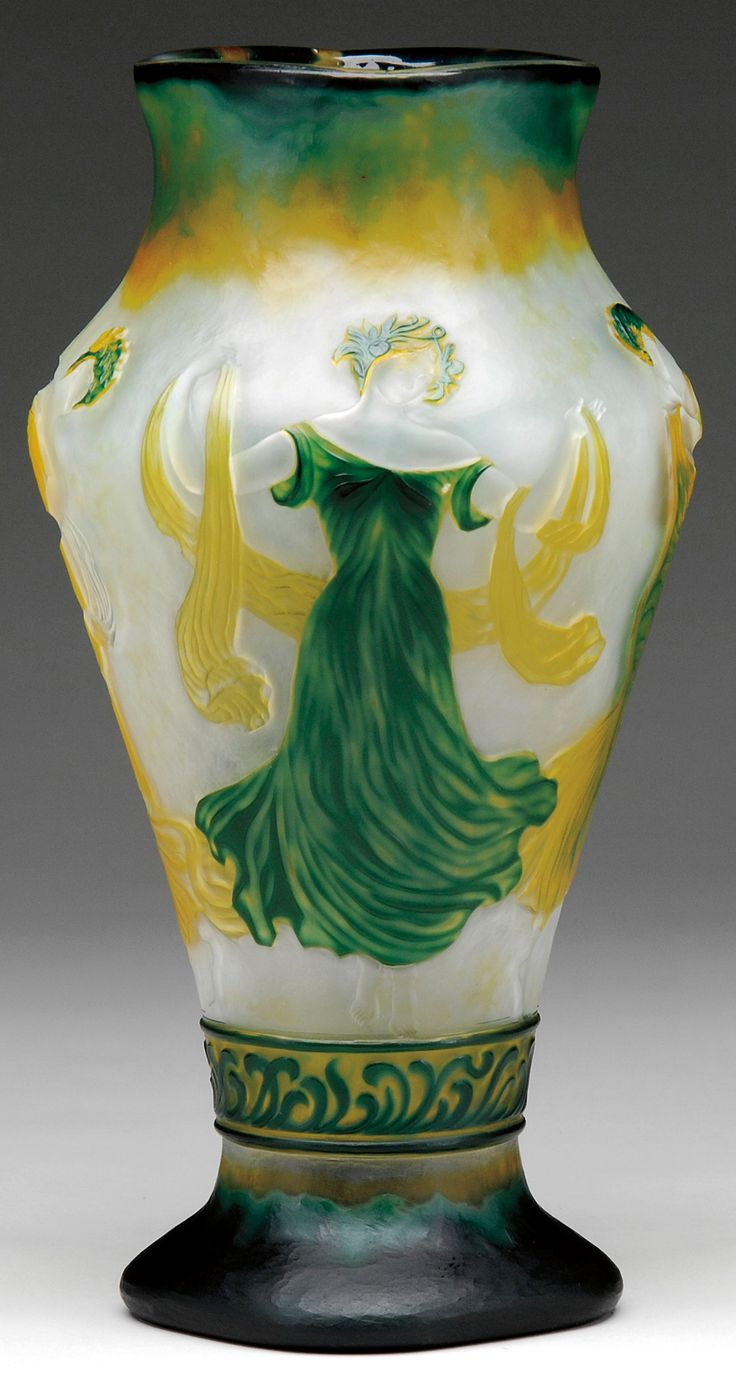 The selection of vases continued with a variety of French and English  cameo. Topping the