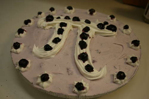 Pi Day Blueberry Frozen Yogurt Pi Pie - As easy as 3.1415