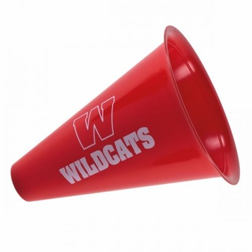 "The 8"" Promotional Spirit Megaphone is made of durable plastic and comes in 15 bright colors. Encourage fans of your brand and/or team to amplify your message with this vibrant megaphone! It is an ideal promotional item to be used at a sporting event or rally."
