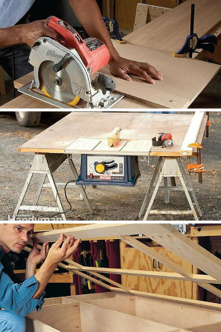 Woodworking: Become a better woodworker with these projects, tips and ideas for building furniture, cabinets and all woodworking projects. Read more: http://www.familyhandyman.com/woodworking