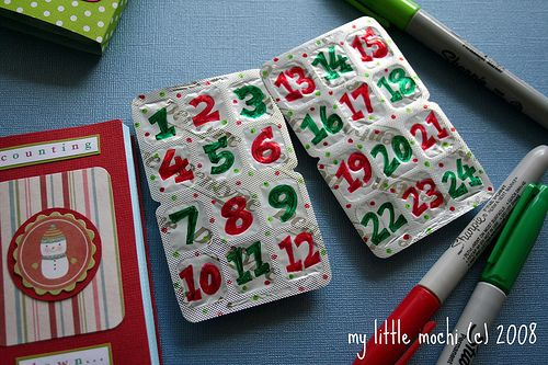 Gum advent calendar!  Why didn't I think of this?