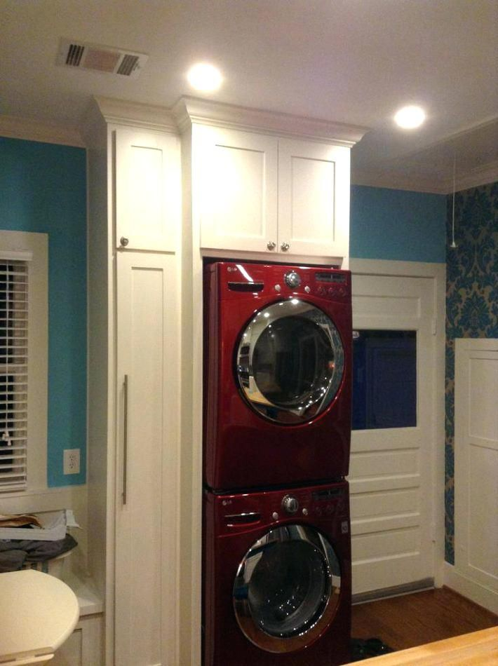 Cabinets Around Stacked Washer And Dryer Washer Dryer Dimensions