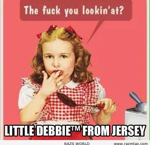 LITTLE DEBBIE FROM NEW JERSEY... - http://www.razmtaz.com/little-debbie-from-new-jersey/