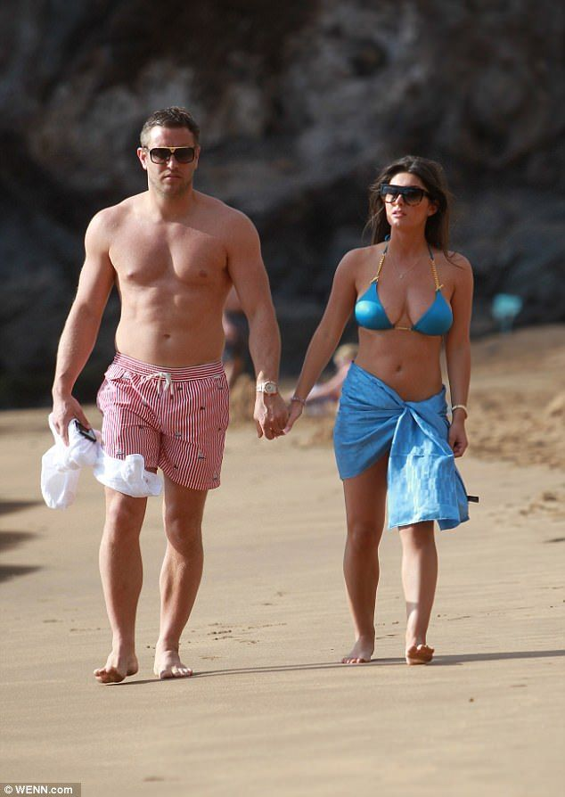 Loved up: Although the former TOWIE star wasn't shy showcasing his muscular physique, it w...