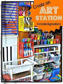 Create an Art Station #creativitymatters | Child Central Station