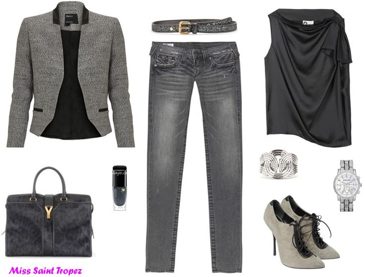 1000+ Images About Grey Jeans Outfits On Pinterest