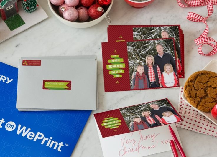 Too Many Holiday Cards On Your List? Try Avery WePrint. You Design Your  Cards