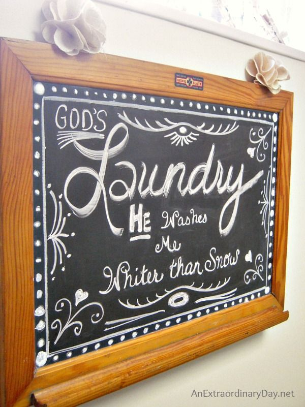 Laundry Room Chalkboard Art More On The Makeover Anextraordinaryday Net And