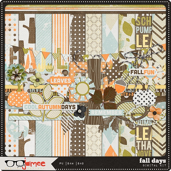 Hurry! Fall Days full kit freebie from Just Jaimee #digiscrap #digifree
