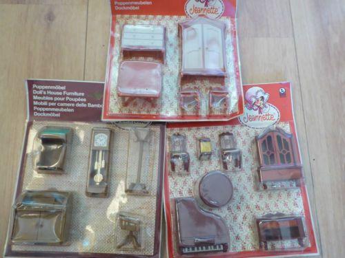 Vintage-3-x-sealed-packets-of-Jean-Jeannette-Jeanette-Dolls-House-Furniture