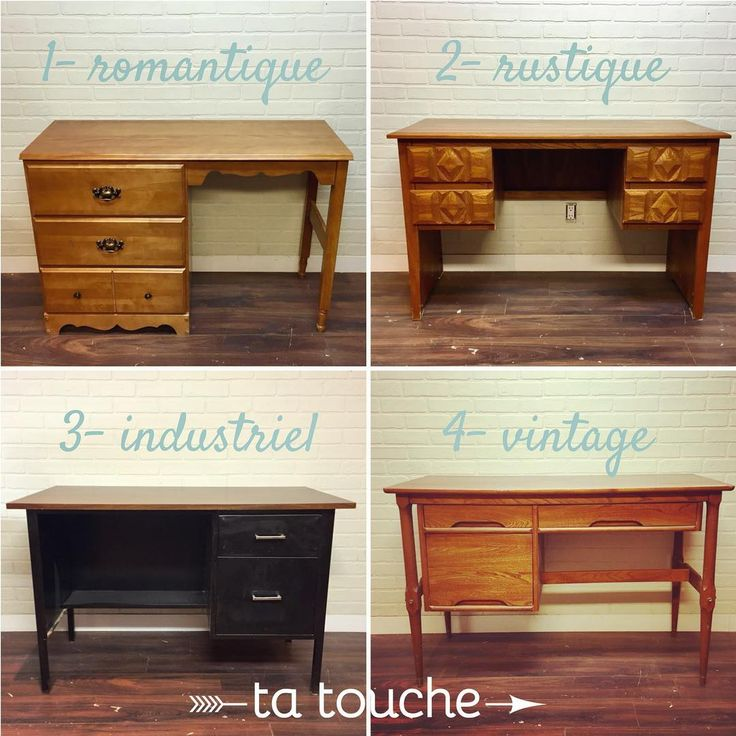 bureaux de travail - quel style préfères-tu : romantique, rustique, industriel ou vintage?