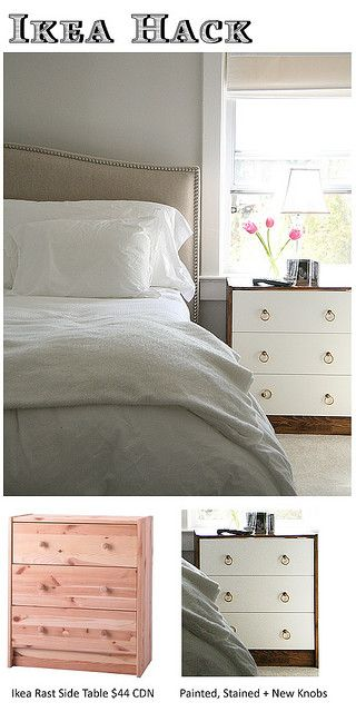 IKEA Rast hack - it's amazing what a little paint and some cool drawer pulls can accomplish