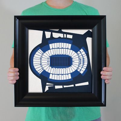 Beaver Stadium located at Pennsylvania State University in University Park, Pennsylvania | College football prints from City Prints put you back in the stands on Saturdays. City Prints look like modern art and remind you of the unforgettable moments you experienced in your favorite seats