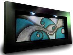 cuadros al oleo modernos turquesa - Buscar con Google