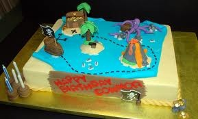 links to pirate map cakes images on google with some cute ideas that can be executed using my fave . . . the COSTCO CAKE!