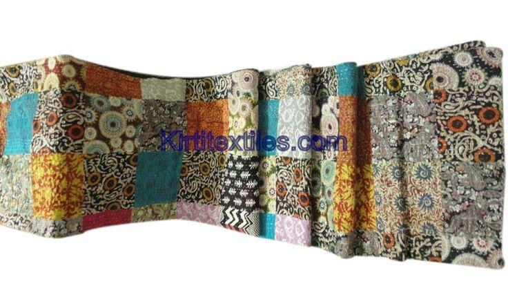 Indian Traditional Sanganeri Block Printed Cotton Fabric Made Vintage Style Patchwork Gudri Elegant LookThrow Bedspread From Jaipur Rajasthan India