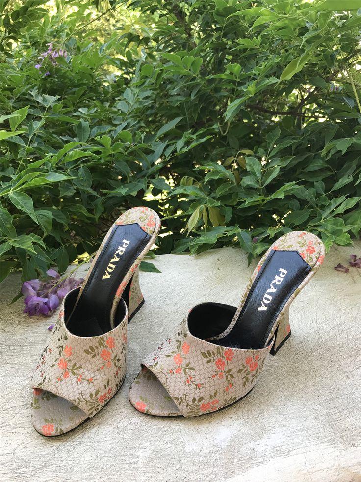 Prada shoes  Prada Jacquard mules