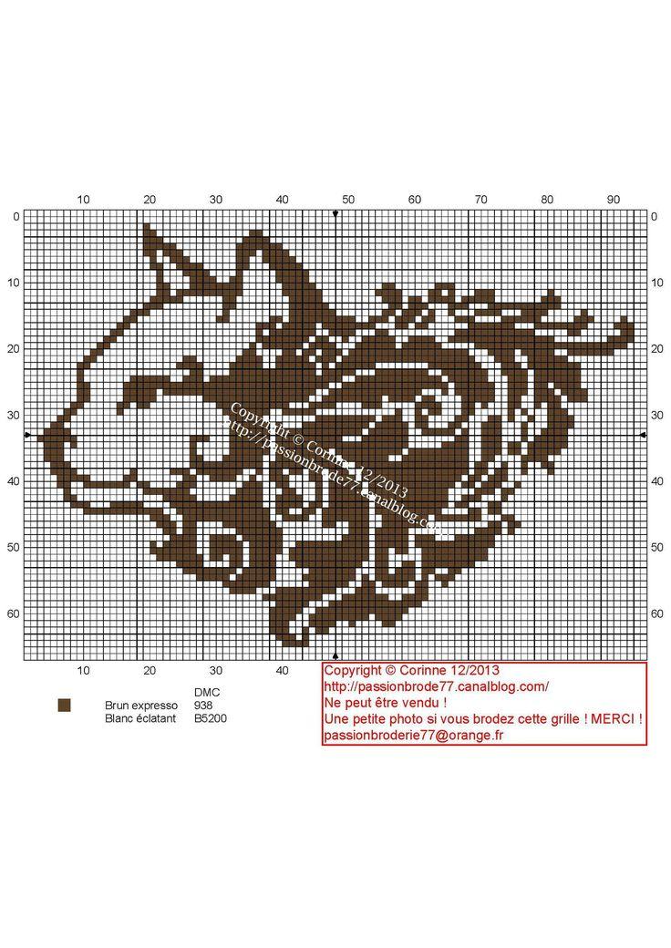 Tribal Cat Cross Stitch Pattern