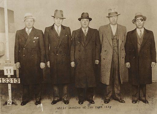 1931: Nig Rosen, Bugsy Siegel, Harry Teitelbaum, Harry Greenberg and Lepke Buchalter