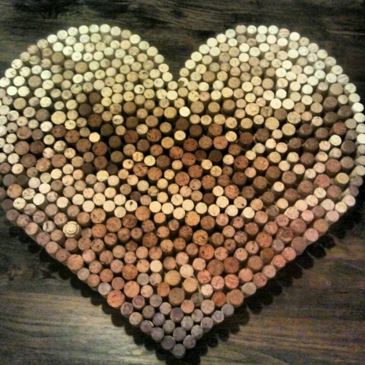 Creatief met kurk: hart