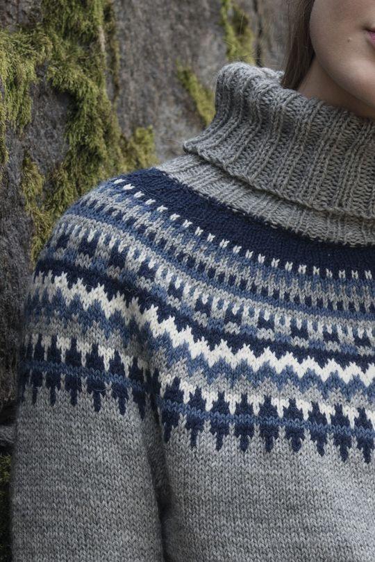 Flerfärgsstickad damtröja Novita Nalle | Novita knits