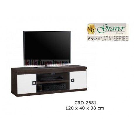 Harga CRD 2681 Graver Anata Condition:  New product  Meja Tv / Bufet Pendek ANATA Series Graver  bahan particle board ukuran 1200 x 400 x 380 mm