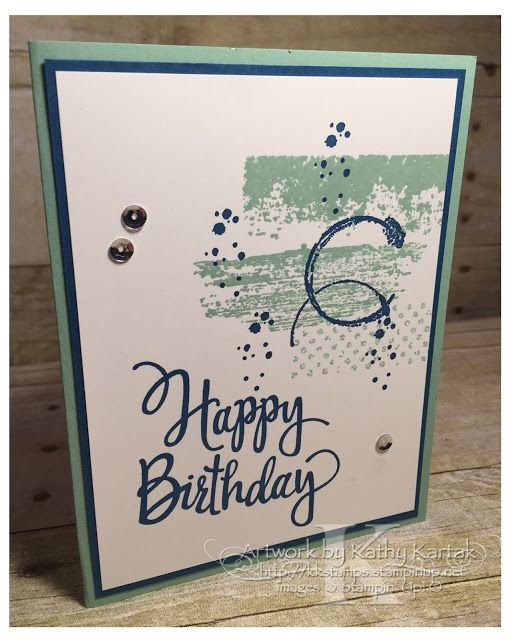 """Faithful INKspirations: Textured Birthday  is made with Stampin' Up's """"Timeless Textures"""" and """"Stylized Birthday"""" stamp sets."""