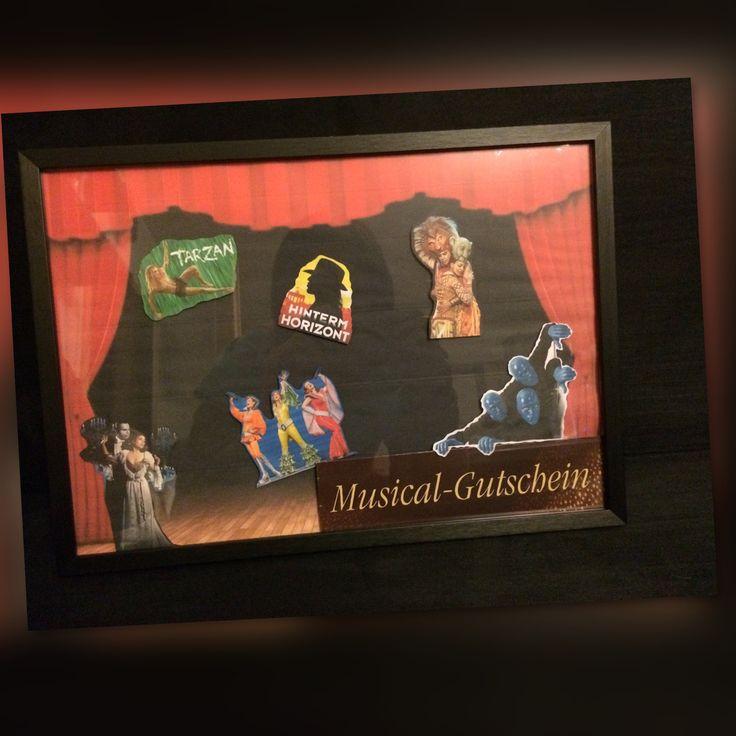 Geschenk / Musicalgutschein / Gutschein / Bilderrahmen / Fotorahmen / Hochzeit / Geburtstag