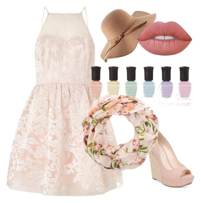 """Untitled #30"" by caoimheod on Polyvore featuring Lipsy, Jessica Simpson, Deborah Lippmann and Lime Crime"