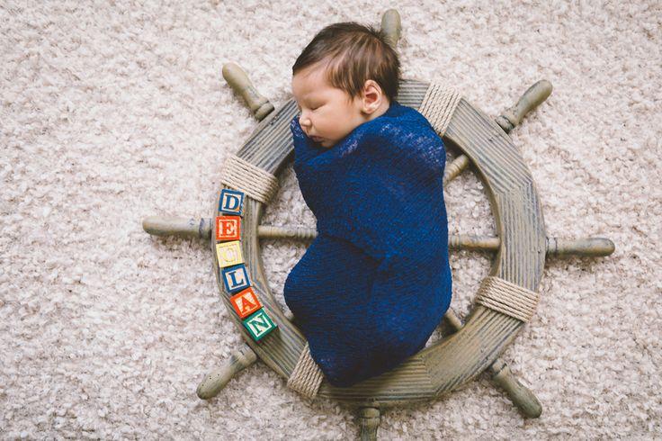 Ahoy, Declan! A Nautical Themed Nursery and Newborn Photos by Darin Crofton Photography