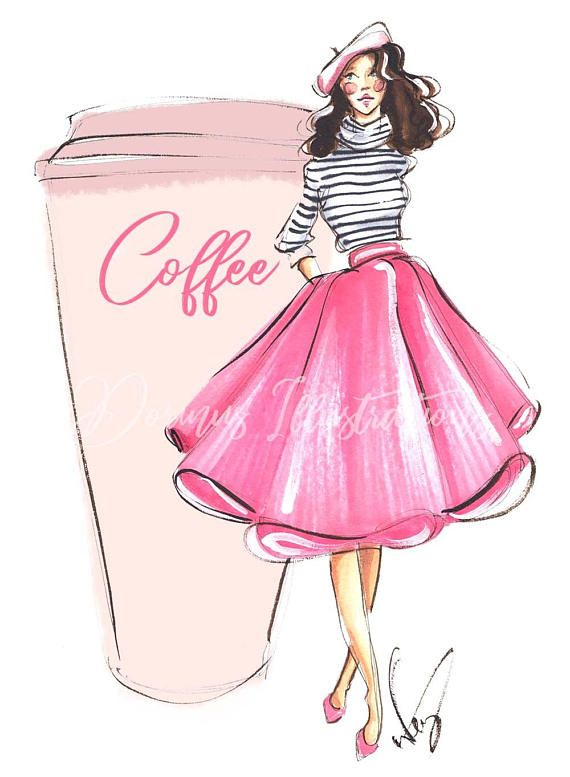 "Coffee artwork, Fashion illustration, Coffee print, Fashion sketch, Fashion print, Coffee art, Fashion art, Coffee illustration Available sizes: 13x18cm(5.1""x7.1"") 18x24cm(7.1""x9.4"") 21x30cm(8.3""x11.8"") 30x40cm(11.8x15.7) My prints are perfectly fitting in standard frames."