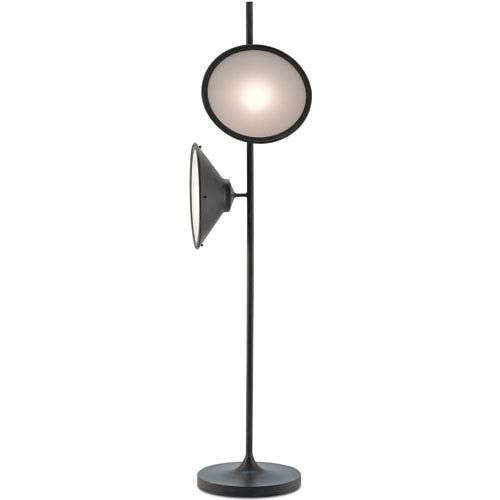 Currey Company Bulat Antique Black And White Opaque Two Light Floor Lamp 8000 0018 Floor Lamp Contemporary Floor Lamps Lamp Design