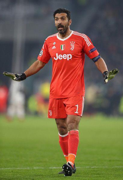 Gianluigi Buffon of Juventus during the UEFA Champions League group D match between Juventus and FC Barcelona at Juventus Stadium on November 22, 2017 in Turin, Italy.