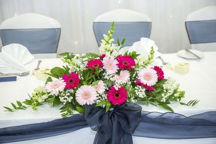 Lovely floral centrepiece.