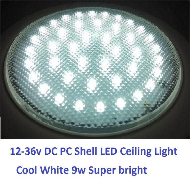 12 V-36 V DC 220 MM Koud Wit LED Lichtkoepel PC Shell Plafondlamp Caravan/Camper Trailer/RV Camping Accessoires