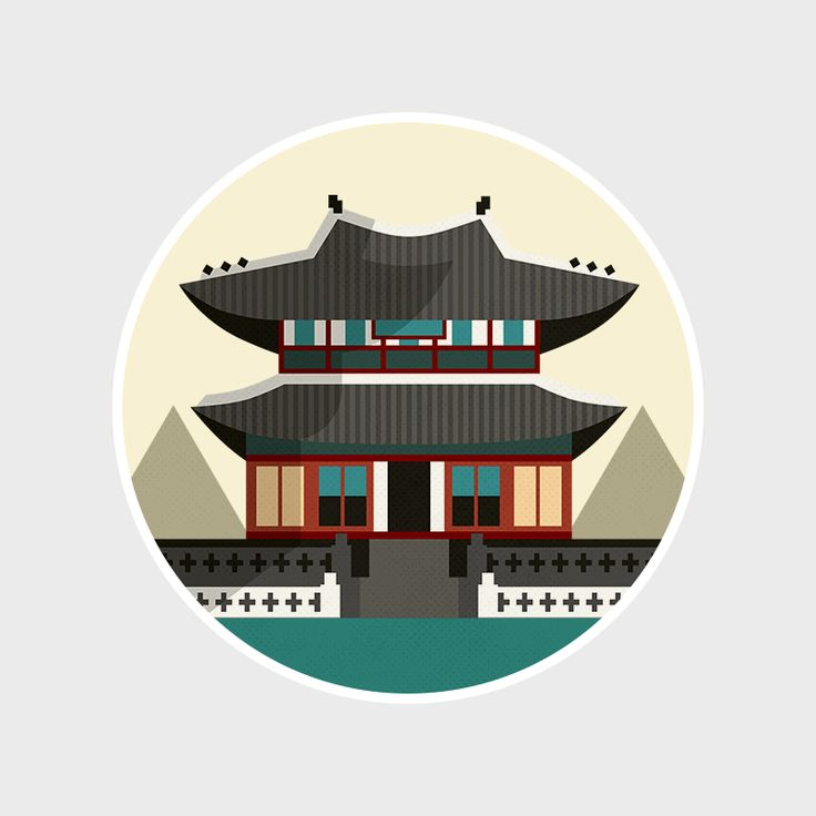 Gyeongbokgung Palace, Seoul, South Korea. Illustration by @mayaidanan