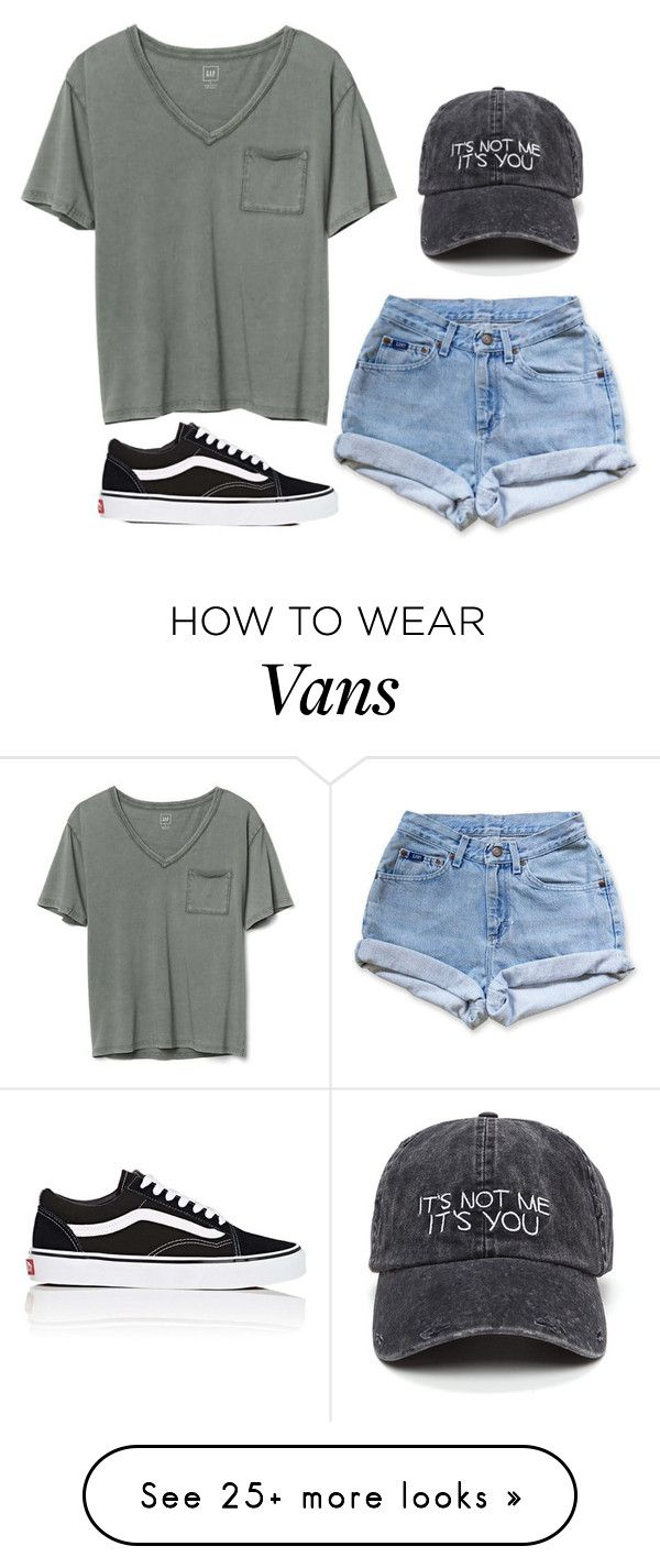 """""""I just wanna talk to ya"""" by itlyn on Polyvore featuring Levi's, Gap and Vans"""