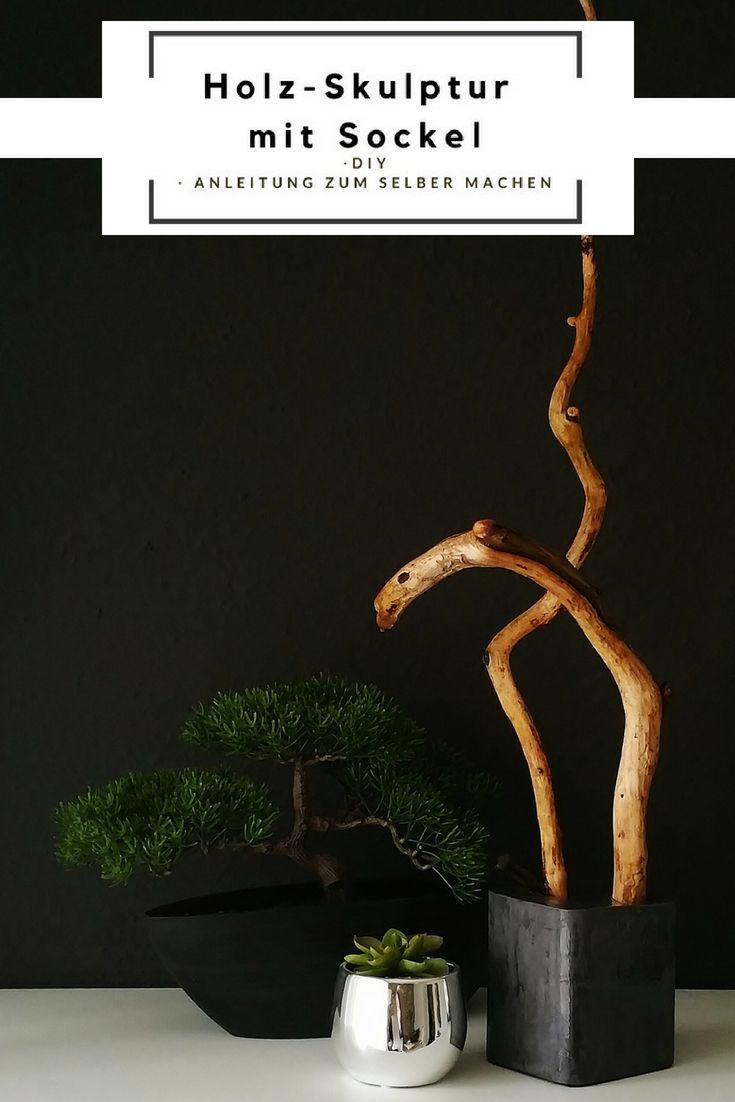 Mit Großen Zweigen Und Beton Keramik Sich Selber Eine Kleine Holz