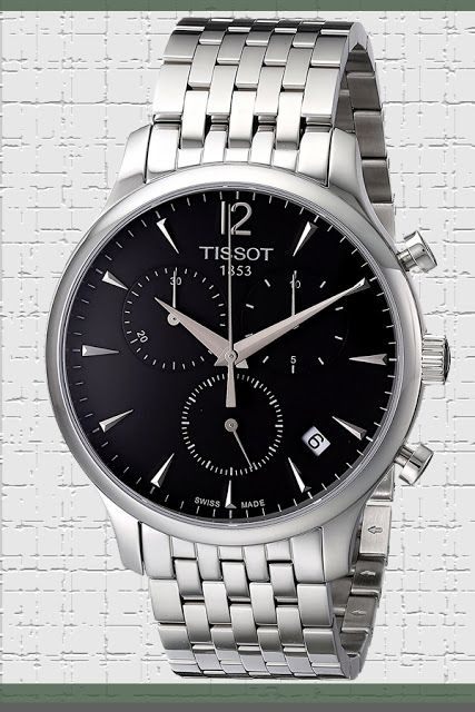 Tissot Men's T063.617.11.067.00 Charcoal Stainless Steel Bracelet Watch with Black Dial Price:     $218.90 & FREE Returns #LuxuryTissotWatches #TissotWatches #LuxuryWatches #MensWatches
