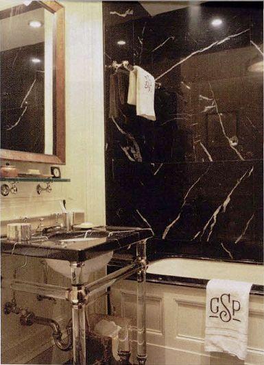 Gil Schafer, classic marble bath